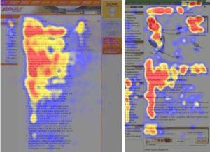heat mapa strony intenetowej