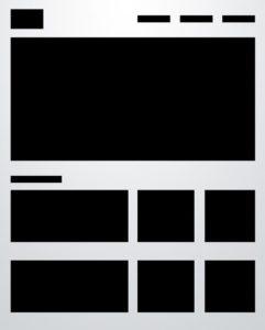 layout strony internetowej